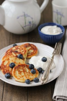 Sirniki (Russian Farmer's Cheese Pancakes) by olgasflavorfactory #Pancakes #Farmers_Cheese