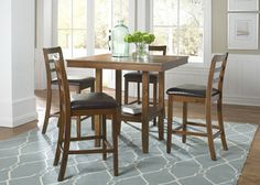 Tucson II 5-Piece Counter Height Dining Set | Liberty | Home Gallery Stores
