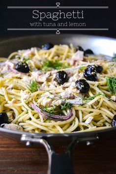 Spaghetti with Tuna Lemon and Dill is a healthy and effortless 30-minute meal.