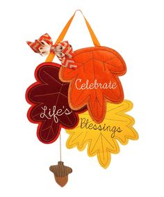 Take a look at this 'Celebrate Life's Blessings' Door Hanger today!