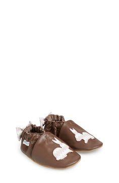 Robeez® 'Hopping Haley' Crib Shoe (Baby & Walker)