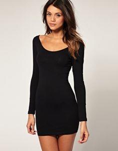 ASOS Body-Conscious Dress with Long Sleeve - StyleSays