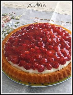 Pudding Pies, Turkish Recipes, Waffles, Cheesecake, Food And Drink, Cream, Cooking, Breakfast, Desserts