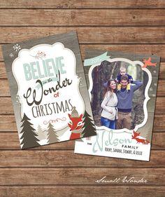 Small Wonder 5x7 Christmas Card Template