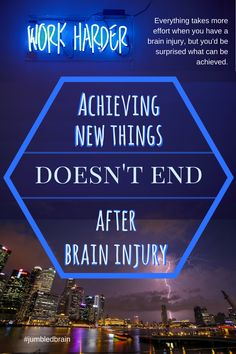 My blog on living with a brain injury: A brain injury can make a lot of things more difficult than they were before. I'm surprised with what things I'm achieving now, which even before were hard.