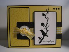 Silhouetted Thinking of You by lisaadd - Cards and Paper Crafts at Splitcoaststampers