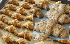 Mini orechové rožteky bez vajec: Smotanové cesto len z 3 prísad! Czech Recipes, Russian Recipes, Almond, Food And Drink, Treats, Cookies, Chicken, Baking, Sweet