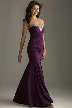 Eggplant Purple Prom Dress