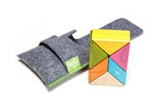 6 Piece Tegu Pocket Pouch Prism Magnetic Wooden Block Set - The Quick Gift