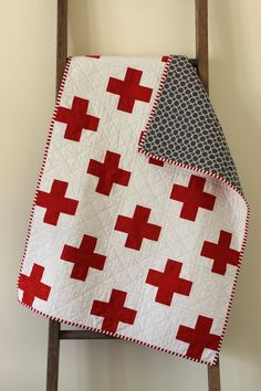 st. george's cross quilt. by craftyblossom on Etsy