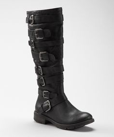 Black Nicola Boot. buckles <3
