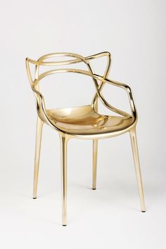 Masters Chair [Precious Metals Edition] by Philippe Starck for Kartell Luxury Chairs, Luxury Furniture, Furniture Design, Futuristic Furniture, Plywood Furniture, Modern Furniture, Living Room Chairs, Dining Chairs, Lounge Chairs