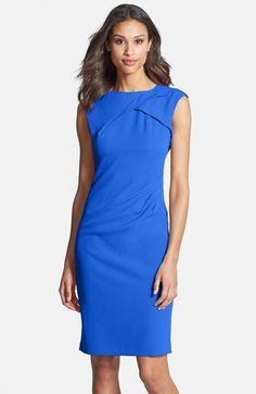 Free shipping and returns on Adrianna Papell Pleated Crepe Dress at Nordstrom.com. A sleeveless, origami-influenced bodice adds interest to an Empire-waist dress shaped with flattering side pleats.