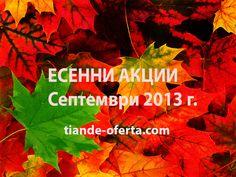 Есенни Акции септември 2013