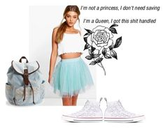 """""""Untitled #9"""" by pokemongirl111 ❤ liked on Polyvore featuring Boohoo, Aéropostale, Converse and Forever 21"""