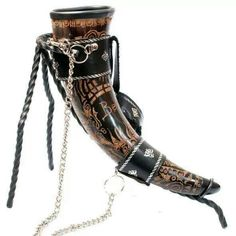 Viking drinking horn... I need to get me one of these