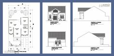 denah rumah Modern House Plans, House Floor Plans, Cottage Design, House Design, Modern Architecture, My House, Sweet Home, How To Plan, Autocad