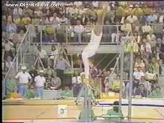 """Here is Olga performing her routine which includes the """"Korbut Flip"""" at the 1972 Olympics.    The Coolest Move They Got Rid Of In Olympic Gymnastics"""
