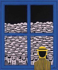 Constantinos Nakkas *: Και εγένετο…Λαϊκή Ενότητα! * Greece Painting, Greek Art, Teaching Art, Artist Painting, Modern Art, Sculptures, Illustration Art, Sketches, Colours