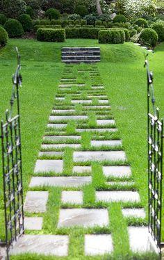 Love this garden path.