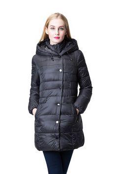 068ba5d40d JOLLYCHIC Women s Winter Light Weight Hooded Thicken Warm Down Coat Jack.  in Clothing