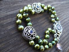 Pearl Bracelet Greener Pastures by McFarland on Etsy