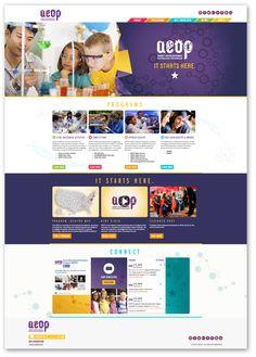 AEOP Website Design // by MSD