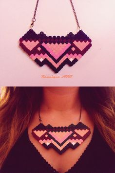 A handmade necklace made of hama beads :) You can see more on my facebook page: Belly Button by Izabela Raunik :D