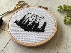 New York City Cross Stitch City Cross Stitch by houseofmiranda