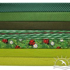 Kit Tecido Patchwork (30x70) 7 Estampas - Verde 7 estampas diferentes - 30 x 70 cm cada 100% Algodão