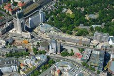 ღღ Umbau- und Erweiterungs-Baustelle des Bauensemble Bikinihaus in Berlin-Charlottenburg