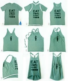 Cut up shirts make them cute but instead of tying id just cut it diy workout tank via rabbitfoodformybunnyteeth solutioingenieria Images
