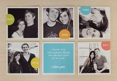 Cute to represent the different years of being together.  #cards #diy #anniversary #pictures