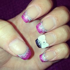 Pink and Black by VeronlcNails - Nail Art Gallery nailartgallery.nailsmag.com by Nails Magazine www.nailsmag.com #nailart