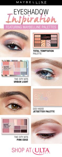 Get the perfect eyeshadow look with these fan favorite Maybelline eyeshadow palettes. Whether you want a smokey eye, a colorful eyeshadow look, or a natural eyeshadow makeup look, Maybelline has you covered! Shop these palettes on Ulta Beauty! #eyeshadowsnatural