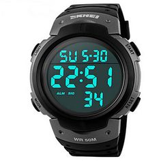 Watches Loyal Skmei Men Fashion Casual Outdoor Sports Digital Watch Compass Waterproof Led Display Calorie Alarm Wristwatch Relogio Masculino Fancy Colours Men's Watches