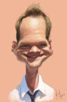 Neil Patrick Harris (caricature) Dunway Enterprises: http://dunway.com…