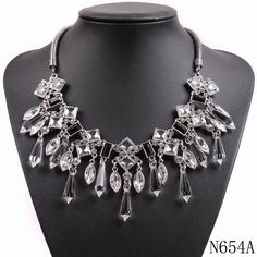 new arrival fashion design bib chunky statement choker collar crystal necklace in Jewelry & Watches, Fashion Jewelry, Necklaces & Pendants | eBay
