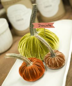 I am going to make these one day.  Velvet pumpkins