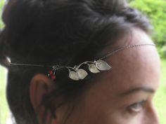 Haarkette silberne Lilien