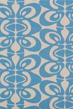Canvas Fabric - Sori (sand/blue)