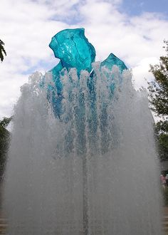 Blue Glass Chihuly - St. Louis - Missouri Botanical Gardens