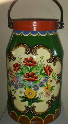 Milchkanne DDR 20 l mit Bauernmalerei Handbemalt NEUWERTIG!!! | eBay