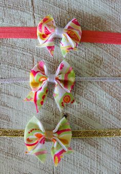 Handmade felt bows on elastic fast shipping leaves store within 2 days!