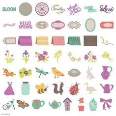 Provo Craft 2002692 Spring Fling Cartridge Kit Cricut for sale online Provo Craft, Cricut Cartridges, Hello Spring, Scrapbook Paper Crafts, Halloween Themes, Gift Tags, Sewing Crafts, 3 D, Greeting Cards