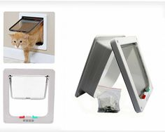 Kailian ® 4 Way Cat Puppy Locking Indoor/Outdoor For Window/Door >>> Read more  at the image link. (This is an affiliate link and I receive a commission for the sales)
