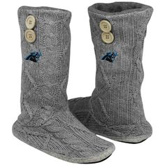 5c4e84f4c Buy Oklahoma State Cowboys Women s Two-Button Cable Knit Boots - Gray from  the Official OSU Shop. OK State fans shop for Oklahoma State Cowboys  Women s ...