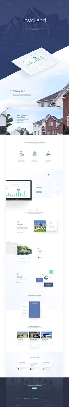 Website for a real estate crowdfunding platform that provides accredited investors with access to senior debt investment offerings.