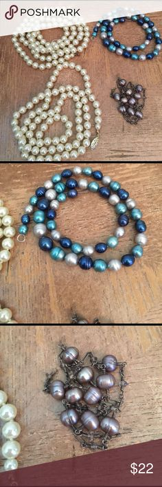 Necklaces with broken clasp ... to repair authenti Necklaces with broken clasp ... to repair authentic Perls ❤ Jewelry Necklaces