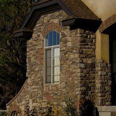Beautiful custom home with our @gsharrisco Ridgestone (Arcadian) ----- www.KodiakMountain.com ----- #KodiakMountainStone  #HomeBuilding #HomeBuilder #HomeBuilders #CustomHomes #Luxury #LuxuryHome #Construction #RealEstate #fireplace #architect #designer # Home Builders, Custom Homes, Luxury Homes, Building A House, Real Estate, Construction, Mountains, Mansions, Stone